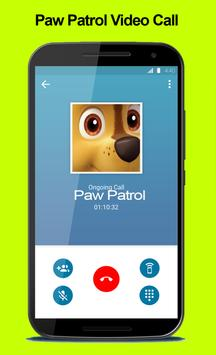 Video Call From Paw chase Patrol apk screenshot