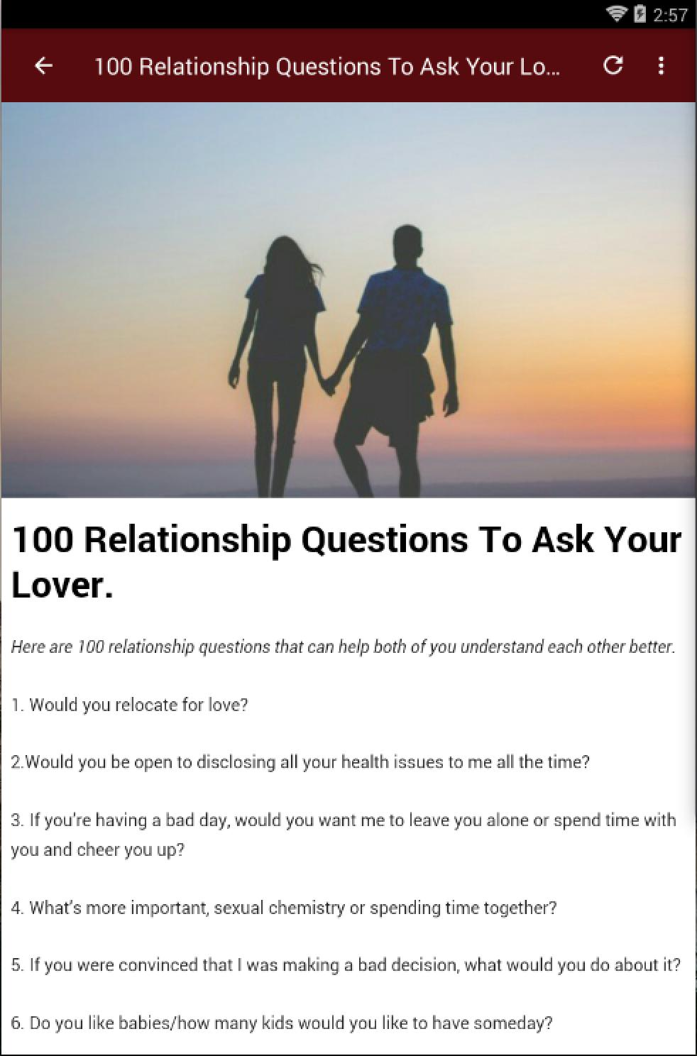 RELATIONSHIP QUESTIONS for Android - APK Download