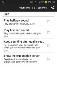 Push Up Counter apk screenshot