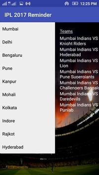 Reminder for IPL 2017 apk screenshot