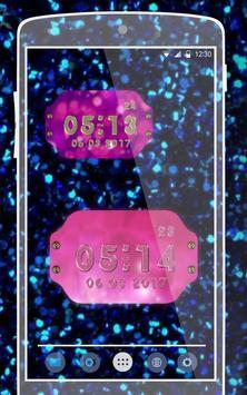 Glitzy Clock Widget apk screenshot
