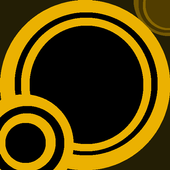 Orbs Black & Yellow LWP icon