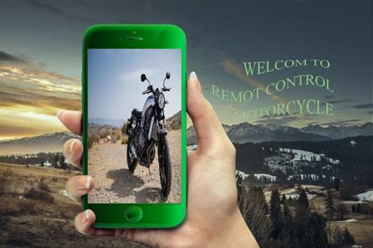 Remote control motorcycl alarm poster