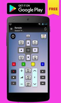 Remote control for Toshiba TV poster