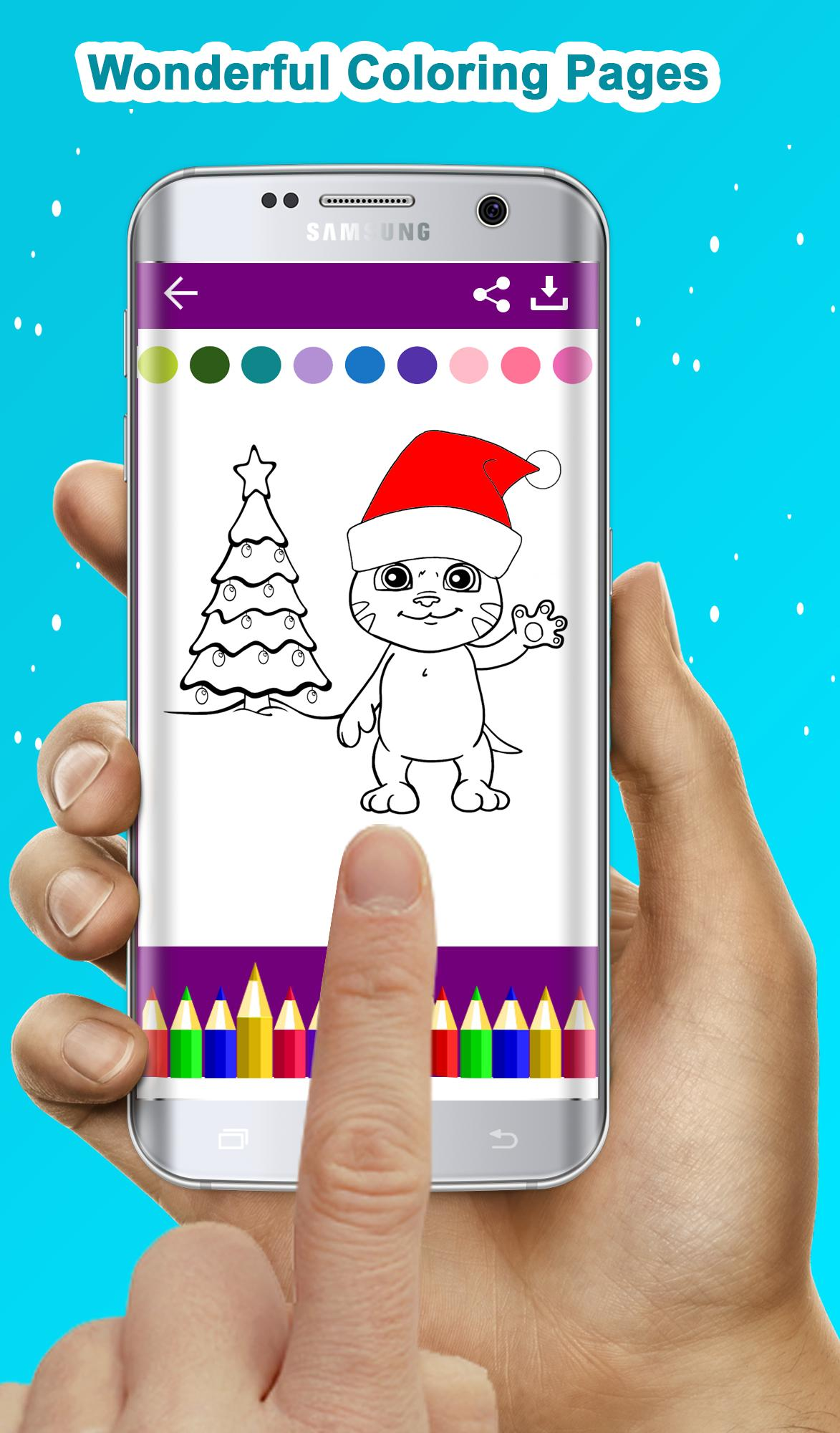 Talking Angela Coloring book Tom Cat Talking Tom Colouring Pages ... | 2000x1173