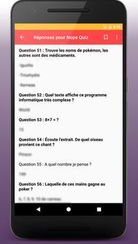 Réponses pour nope quiz apk screenshot