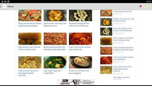 Buku resep makanan indonesia poster