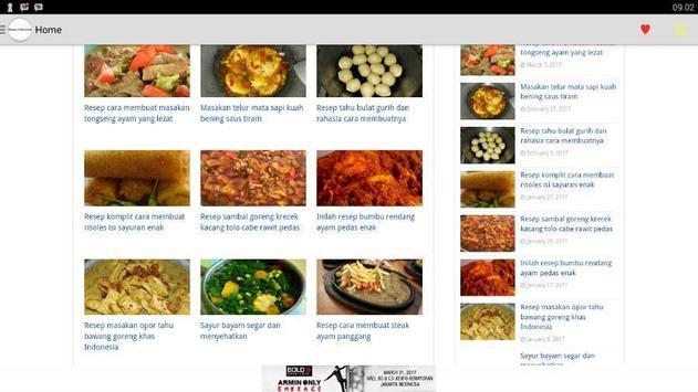 Buku resep makanan indonesia apk screenshot