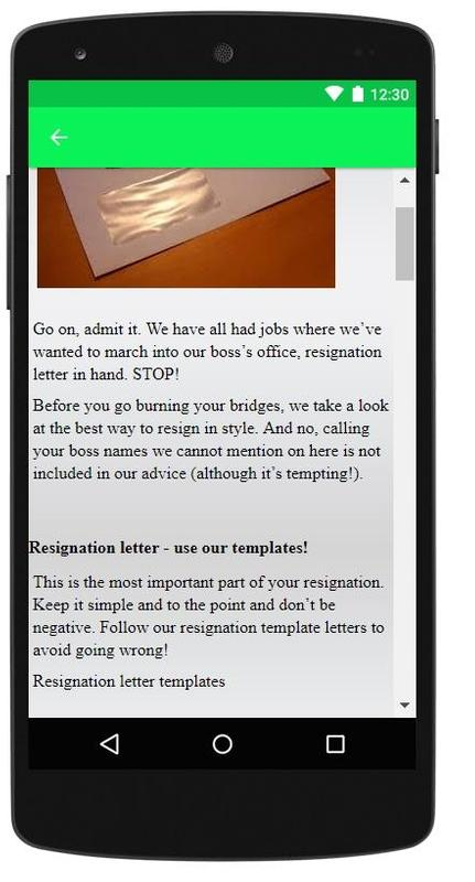 Resignation letter sample for android apk download resignation letter sample screenshot 3 altavistaventures Choice Image