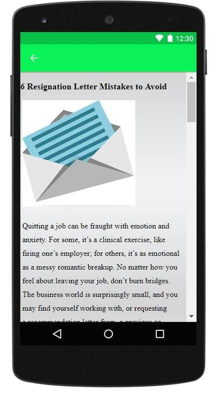 Resignation letter sample for android apk download resignation letter sample screenshot 6 altavistaventures Choice Image