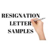 RESIGNATION LETTER SAMPLES icon