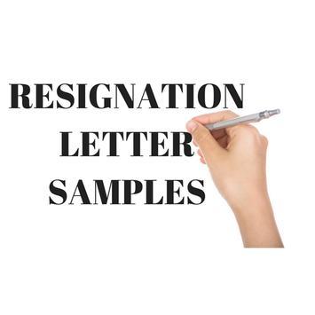 RESIGNATION LETTER SAMPLES poster