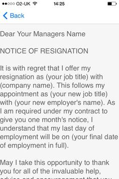 Resignation Letter APK Download - Free Business APP for Android ...