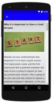 Resume Format screenshot 3