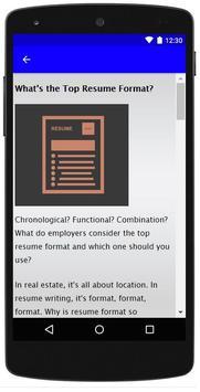 Resume Format screenshot 1