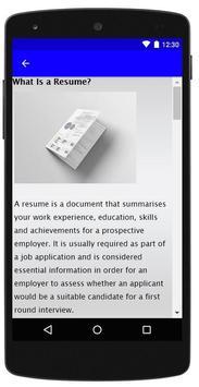Resume Format screenshot 2