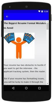 Resume Format screenshot 4