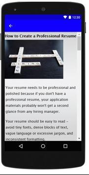 Resume Format screenshot 5