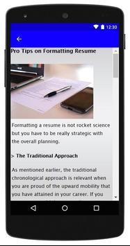 Resume Format screenshot 6