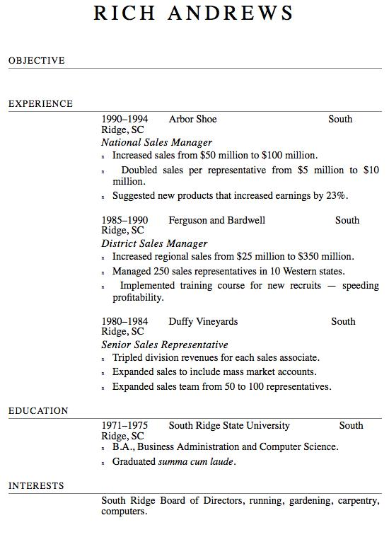 RESUME FORMAT for Android - APK Download