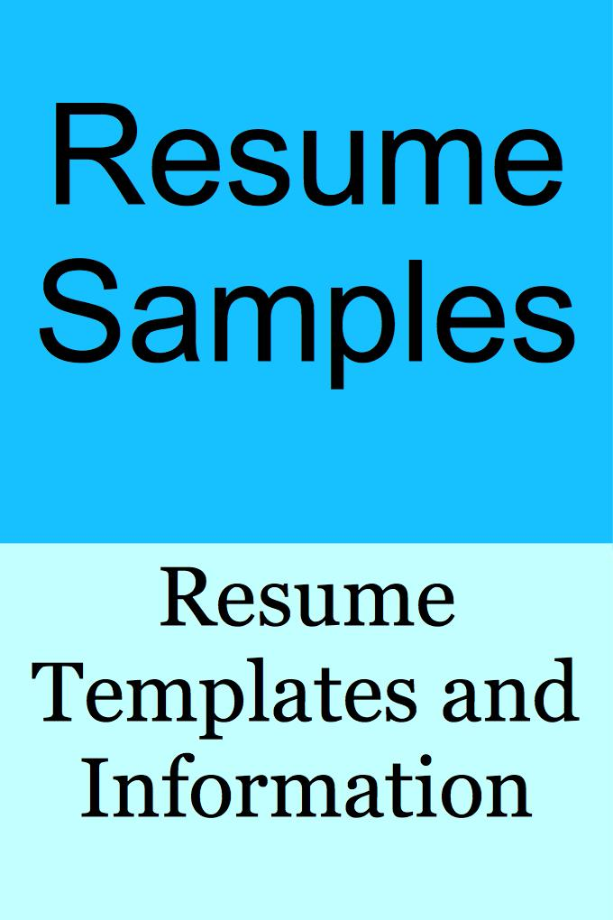 RESUME SAMPLES for Android - APK Download