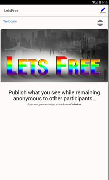 LetsFree - we dont facebook apk screenshot