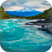 River Near Mountains Live icon