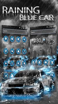 Raining Blue Car apk screenshot