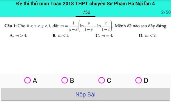 Thi thử đại học môn toán 2018 screenshot 6