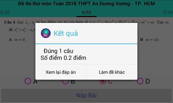 Thi thử đại học môn toán 2018 screenshot 7