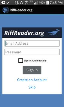 RiffReader.org apk screenshot
