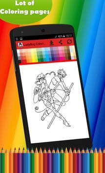 Coloring pages for Ladybug apk screenshot
