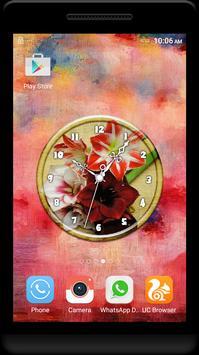 Amaryllis Clock Live Wallpaper poster