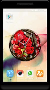 Bouquet Clock Live Wallpaper screenshot 2