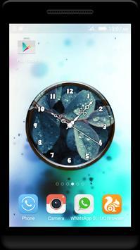 Dew Drops Clock Live Wallpaper poster