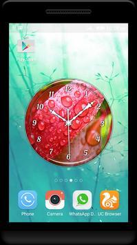 Dew Drops Clock Live Wallpaper screenshot 1