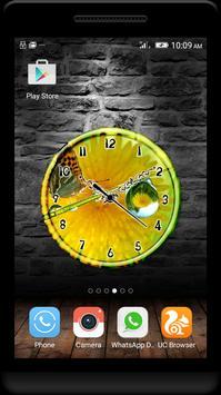 Dew Drops Clock Live Wallpaper screenshot 2