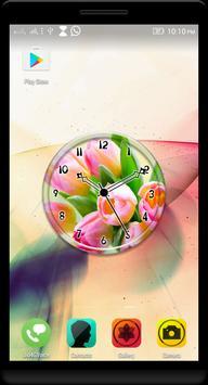 Pink Tulips Clock Live WP apk screenshot
