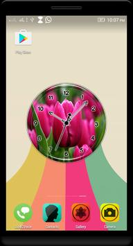 Pink Tulips Clock Live WP poster