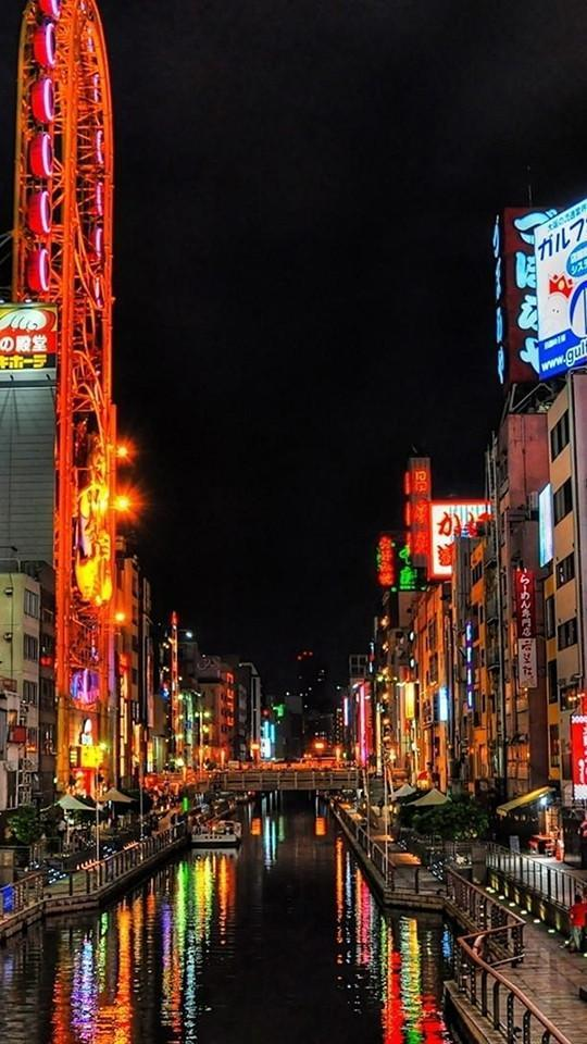 Osaka Night Hd Wallpaper For Android Apk Download