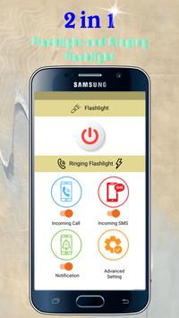 Flash Alerts on Call & SMS - Ringing Flashlight poster