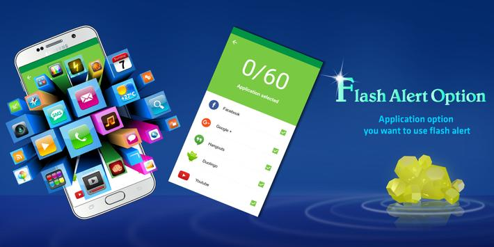 Flash Alerts on Call & SMS - Ringing Flashlight screenshot 1