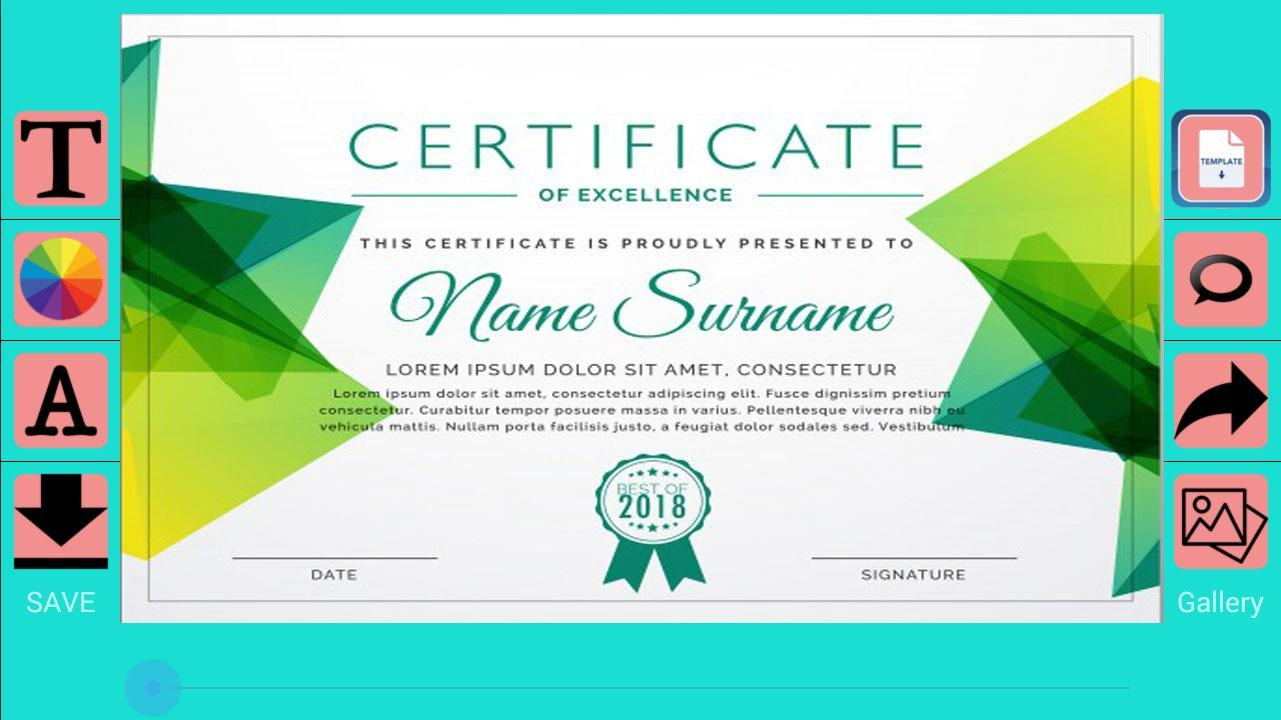 certificate maker create pro apkpure