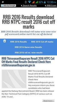 RRB NTPC RESULTS poster