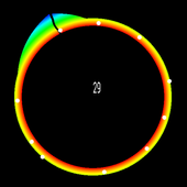 2D Semicircular canal simulation icon