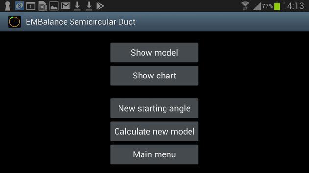 2D Semicircular canal simulation screenshot 1