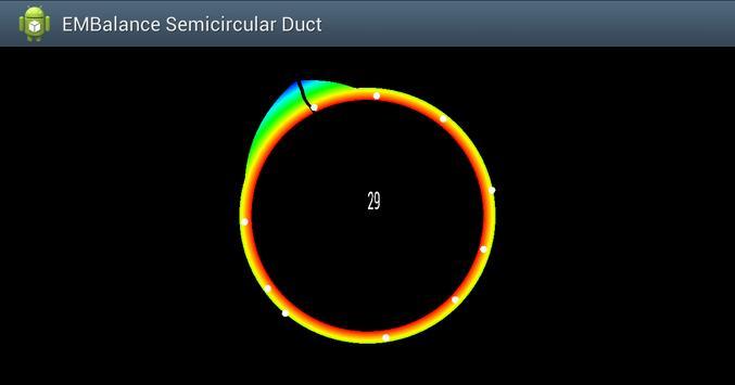 2D Semicircular canal simulation screenshot 2