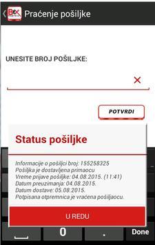 Bexexpress kurirska služba screenshot 1