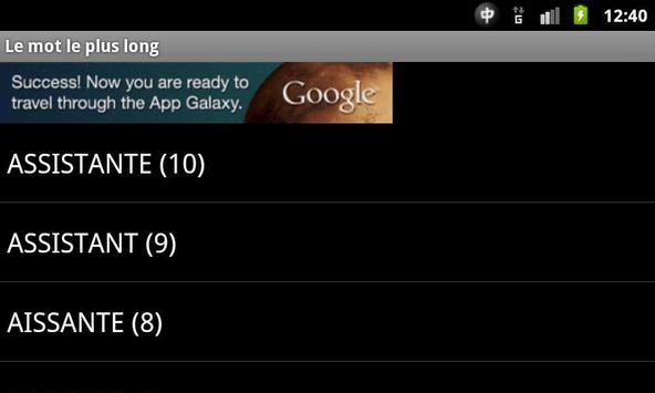 Des chiffres et des lettres apk screenshot