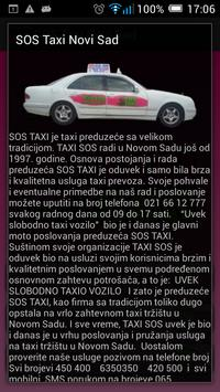 SOS Taxi Novi Sad screenshot 6